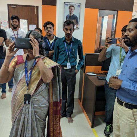 3 Days workshop on Virtual Realty Development at Hindustan University